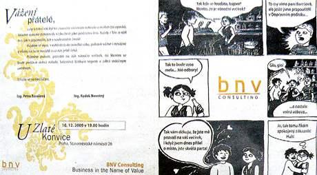 Pozvánka na vánoční večírek společnosti BNV Consulting.