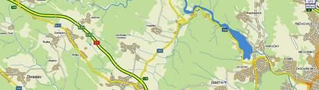 U Domašova na Brněnsku zahynul dnes nad ránem na dálnici D1 řidič při výměně kola svého vozu