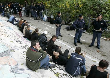 Z�sah italsk� policie proti imigrant�m z Rumunska