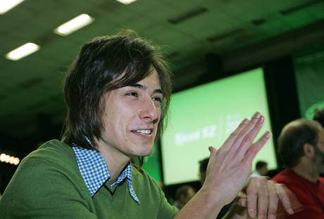Matěj Stropnický na sjezdu Strany zelených (5. 12. 2009)
