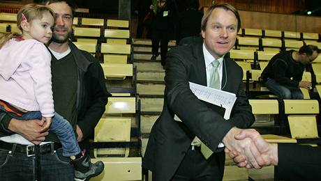 Martin Bursík na sjezdu Strany zelených (5. 12. 2009)