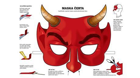 Vystřihovací maska čerta
