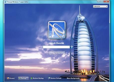 Thoosje Windows 7 login editor