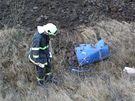 Hasiči našli na Brněnsku černou skládku barelů s toxickým obsahem