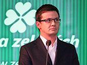 Ondřej Liška na sjezdu Strany zelených (5. 12. 2009)