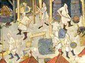 Iluminace ze středověké kutnohorské chorální knihy.