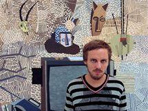 Michal Hvorecký dnes. Na výstavě Abstract America v londýnské Saatchi Gallery