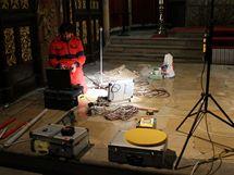 Průzkum v rožmberské hrobce
