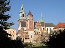 Polsko, Krakow. Katedrála na Wawelu
