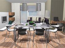 Obývací kuchyně v novostavbě
