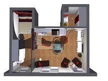 Čtyři varianty řešení malého bytu 1+kk