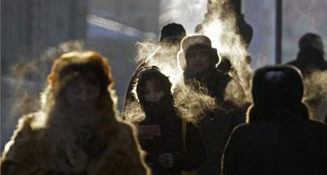 Ruská zima. Moskvu sužují dvacetistupňové mrazy už několik dní. (15. prosince 2009)