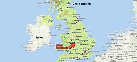 Mapa Velké Británie