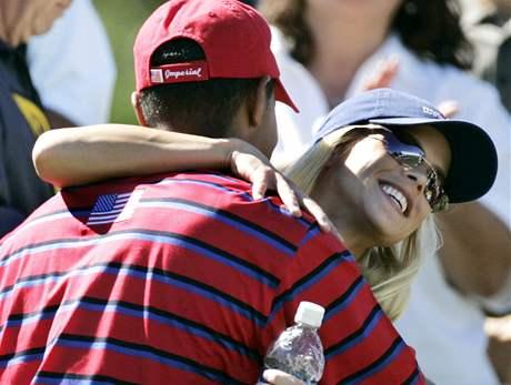Tiger Woods a Elin Nordegrenová.