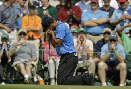 Tiger Woods pokořený.