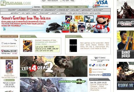 Úvodní stránka obchodu Play-asia.com