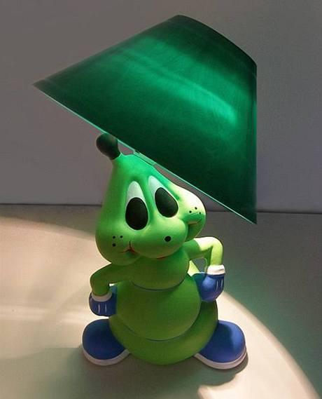 zelená lampička