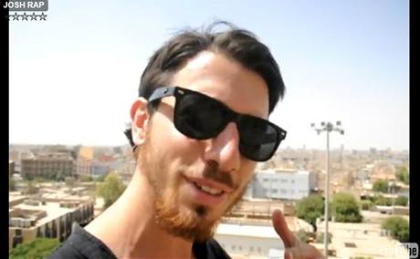 Josh Fattal na záběru z videa zveřejněném na YouTube.com