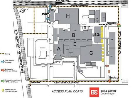 Bella Center - orientační schema