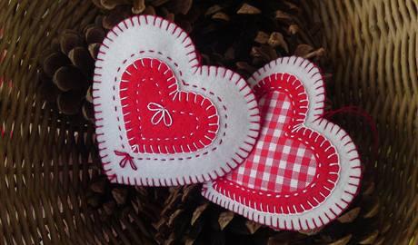 Srdce z textilu