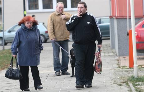 Petr Hroch při nástupu do vězení