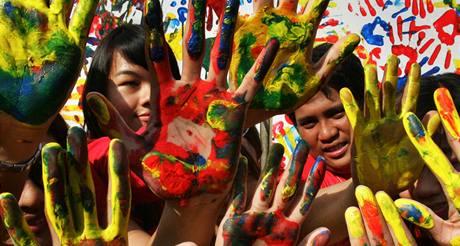 Manifestace za přijetí nové emisní dohody - Filipíny.