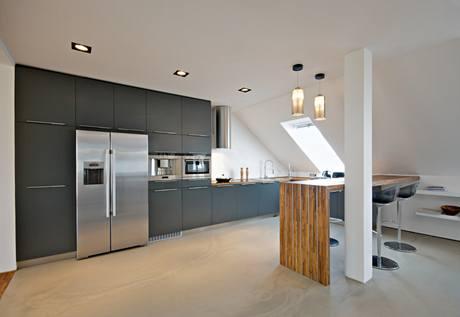 Obytná kuchyně s jídelnou je centrem celého bytu