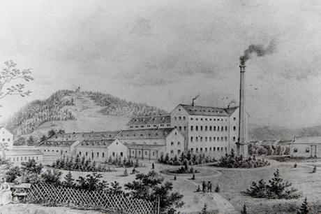 Továrna Thonet někdy kolem roku 1873
