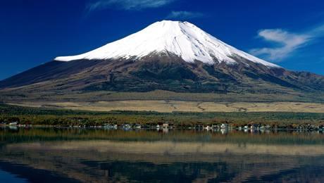 Japonská hora Fudži.