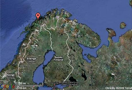 Mapa Norska