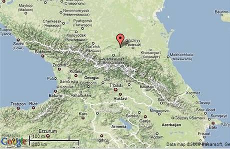 Mapa Ingušsko