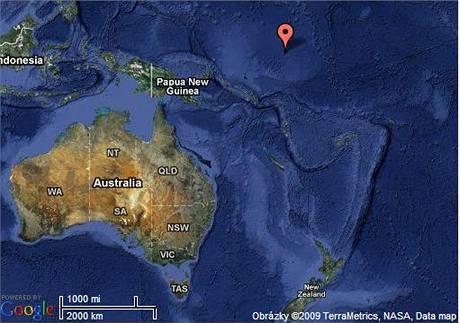 Mapa tichomořského státu Nauru