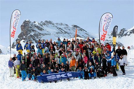 Test lyží ve švýcarském Sv.Mořici v roce 2009