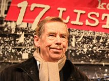 Dramatik a bývalý prezident republiky Václav Havel v Brně 19. listopadu 2009 na koncertě pro 17. listopad 1989.