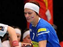 Zuzana Jelínková (7) v zápase s Norskem na MS