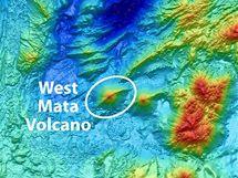 Výbuch sopky Západní Mata: detail mořského dna