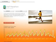 Nike+ - takto vypadá podrobně naplánovaný trénink na půl maraton.