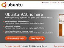 Plocha Ubuntu 9.10 se spuštěným prohlížečem, terminálem a hrou Frozen Bubbles