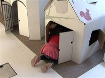Papírové domečky děti milují