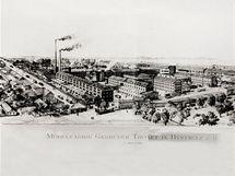 Továrna v Bystřici v roce 1911