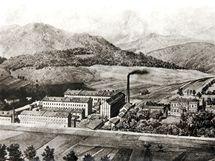 Továrna kolem roku 1890
