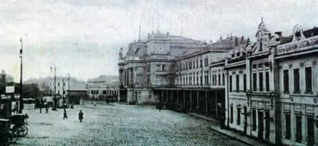 Hlavní nádraží v Brně - historický snímek