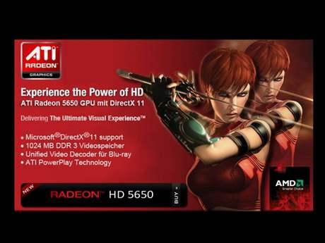 Mobility Radeon HD 5650 - leták