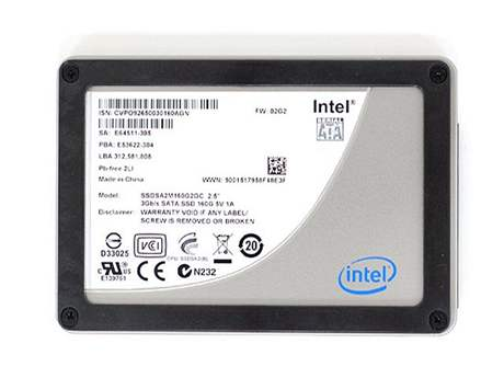 Intel SSD na technologii 34nm