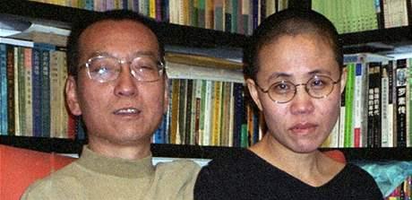 Čínský disident Liou Siao-po s manželkou