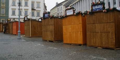 Vánoční trhy v Brně skončily.