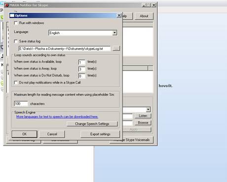 MAXA Notifier for Skype