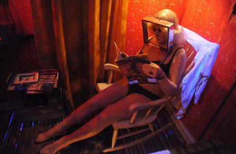 Z výstavy The Hoerengracht (holandsky Kanál prostitutek) v londýnské Národní galerii