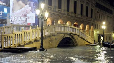 Italské Benátky pod vodou. (23. prosince 2009)