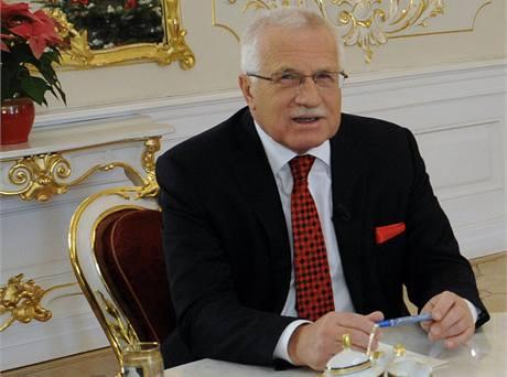 Cena za udržení eura bude nesmírně vysoká, míní prezident Klaus.
